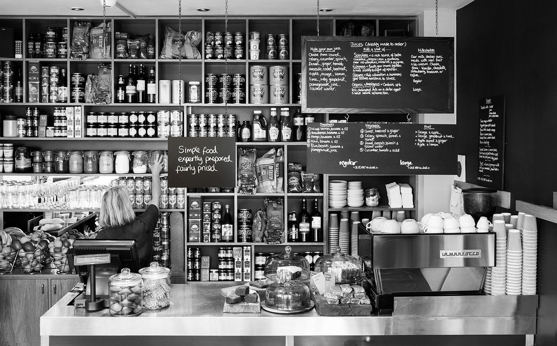 Cafe Plum Photo B&W - Cafe Plum London